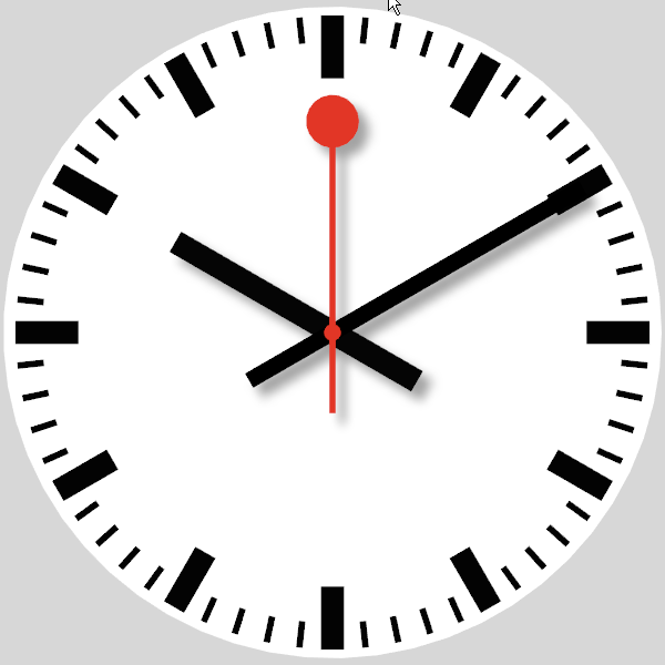 Swiss railway clock vvvv - Swiss railway wall clock ...