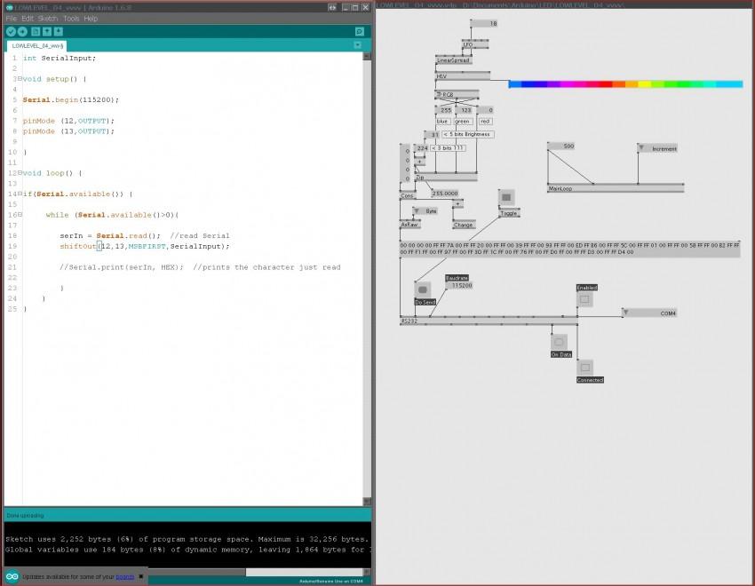 help] serial communication: vvvv > Arduino > APA102 LEDs - question