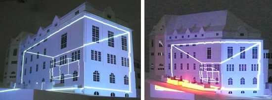 House projection mapping
