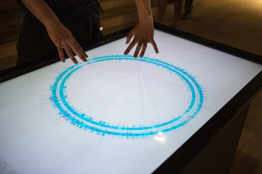 Interactive Human Genome Visualization / Sonification at Ars Electronica 2013