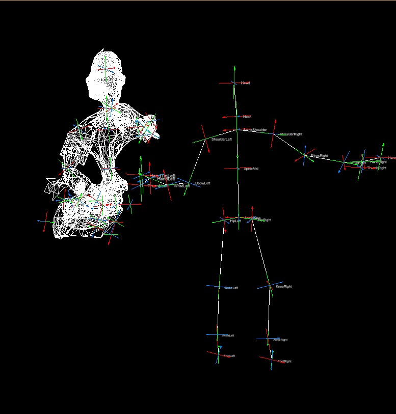 Skinned Skeleton and Kinect - question - Forum