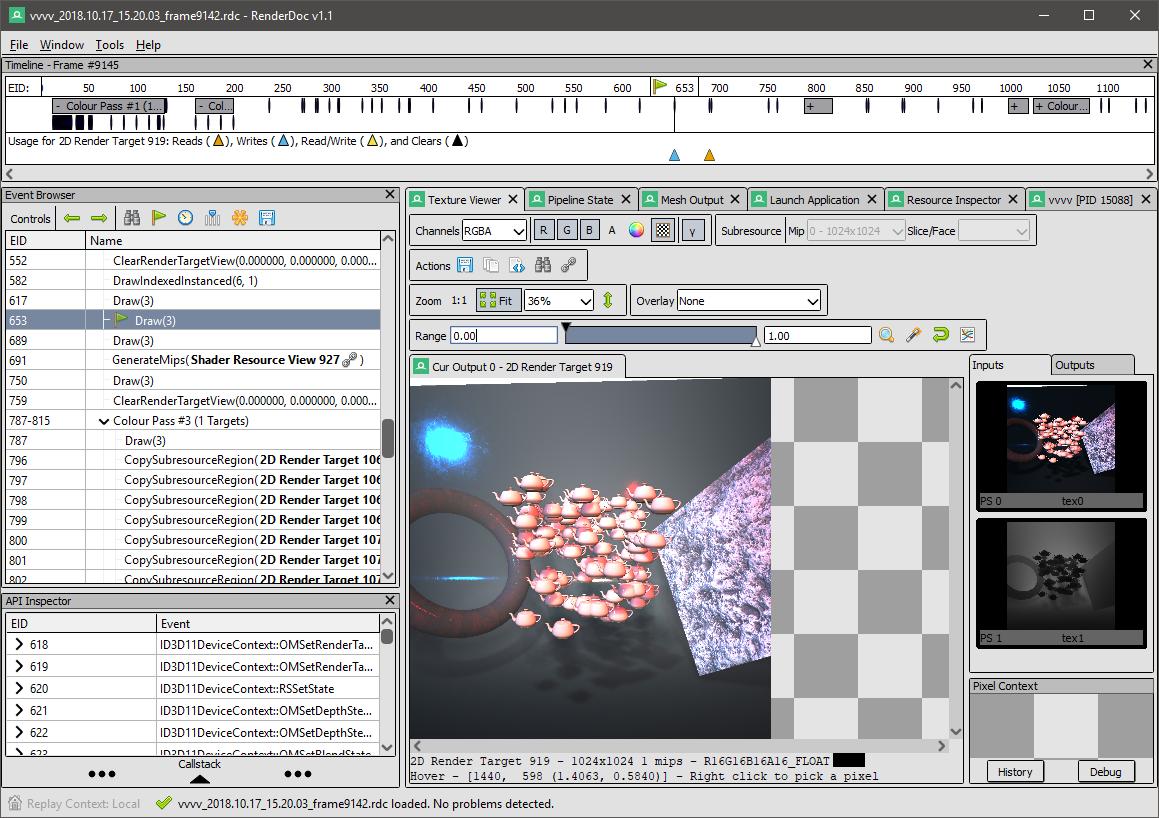 Debug DX11 Frames with RenderDoc | vvvv