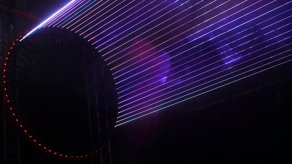 """Rotor"" audiovisual installation by VOLNA"