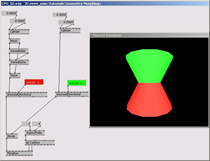 Tutorial Geometry Morphing CPU | vvvv