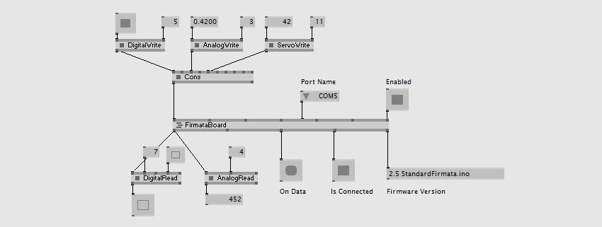 Firmata protocol | vvvv